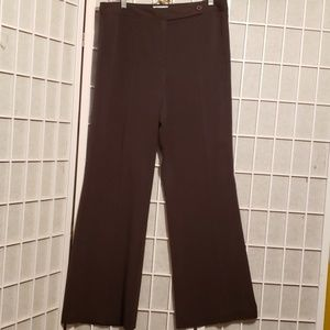 LOFT ANN TAYLOR  STRETCH BRN PANTS SZ 12